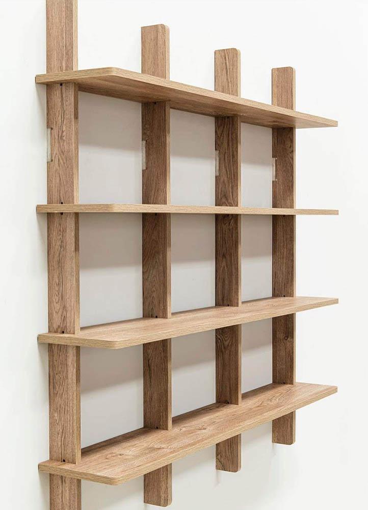estanteria de madera carpinteria en san justo