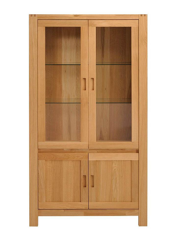 estanteria dos puertas con vidrio