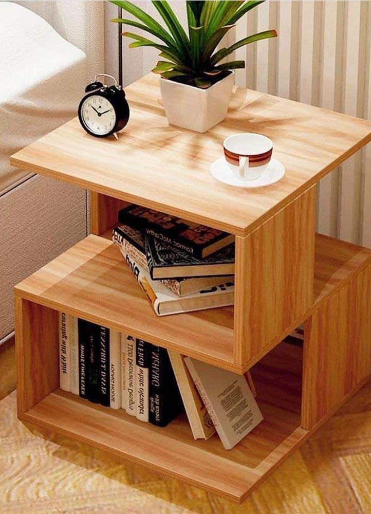 mesa de luz de madera -carpinteria en san justo