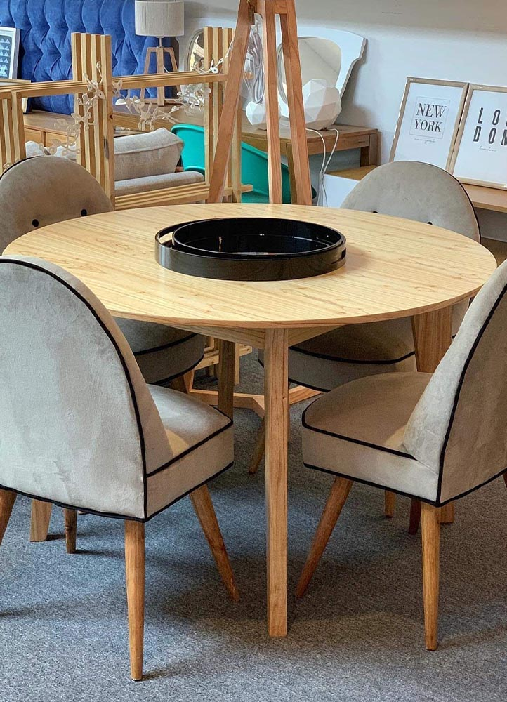 mesa redonda de diseño barata
